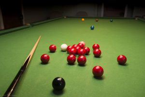 Pitcalzean house pool table