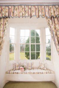Pitcalzean House Window overlooking garden