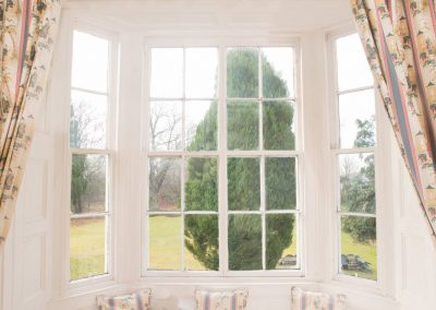 Pitcalzean House Window overlooking garden