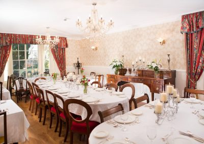 Pitcalzean House Wedding table