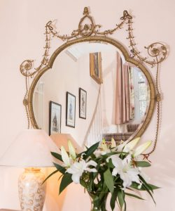 Pitcalzean House Mirror reflecting staircase